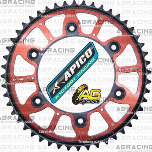 Apico Xtreme Red Black Rear Alloy Steel Sprocket 48T For Honda CR 250 2007 MotoX