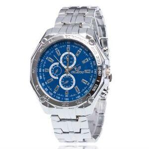 Fashion-Military-Luxury-Band-Stainless-Steel-Watch-Wristwatch-Wrist-Quartz