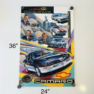 🔥VTG 🚘 1993 CHEVY CAMARO 77th INDIANAPOLIS 500 PACE CAR RACE PRINT POSTER RARE