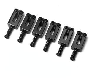 NEW-6-SADDLES-black-10-2mm-STRATOCASTER-amp-TELECASTER-pour-guitare-Fender