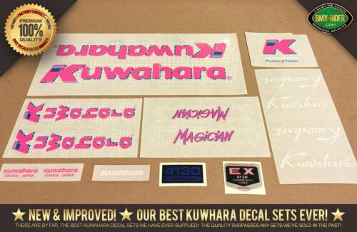 1987-100/% Factory Correct! Kuwahara MAGICIAN PRO BMX Decal Set