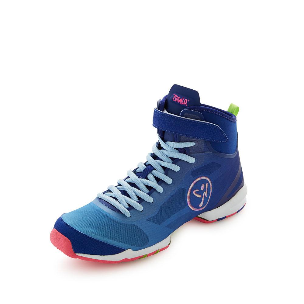Authentic New Zumba Flex II High Blue / Pink Shoes ~6.5, 7, 7.5, 8~ NIB
