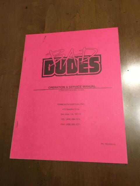 Bad Dudes Nos Operators Manual Data East 1998 Arcade