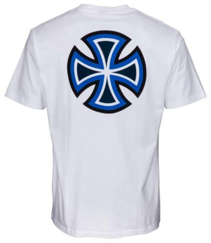 S-XL Bauhaus Skateboard Tee Independent BC Primary T-Shirt White Gr