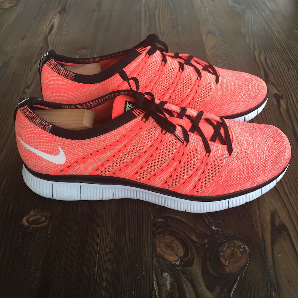 Gently Owned Nike Free Flyknit NSW Size 11.5 Hot Lava 599459-800 Running shoes