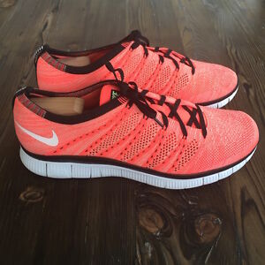 8ef53691f6df Gently Owned Nike Free Flyknit NSW Size 11.5 Hot Lava 599459-800 ...