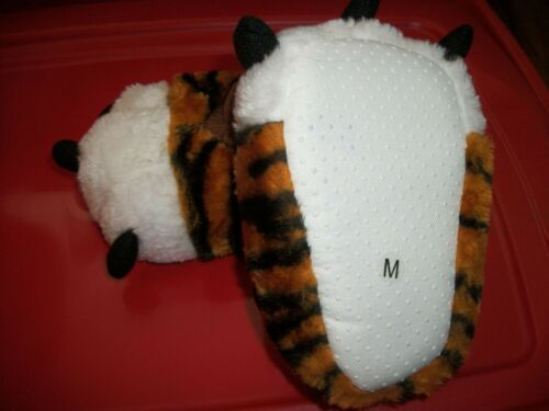 M Tiger Paw Slippers Toddler Orange Plush Stuffed Animal Feet Bootie Sizes S L