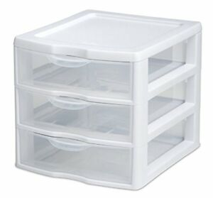 Details About Plastic Storage Drawers Clear Rack Container Sterilite Bin Cabinet Organizer New