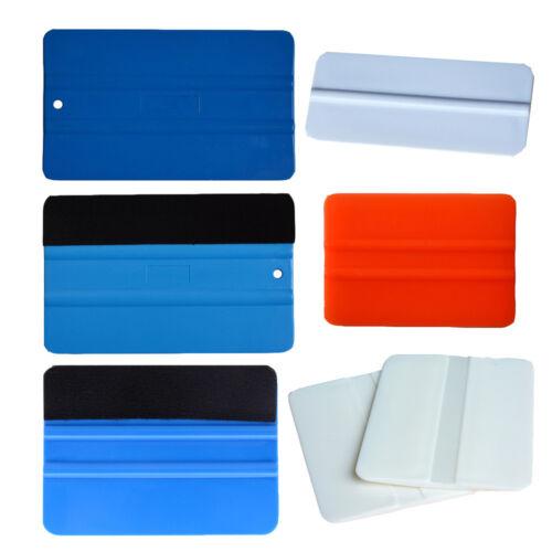 6in1 Vinyl Squeegee Plastic Rubber Scraper Window Tinting Install Wrap Tools