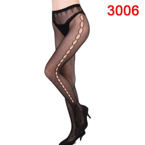 Women/'s Black Lace Fishnet Hollow Patterned Pantyhose Tights Stocking JX
