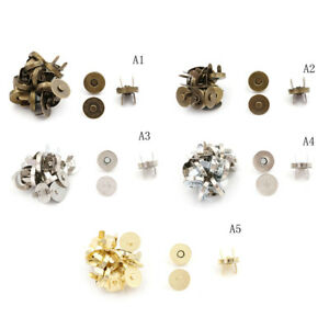 10-Sets-lot-Bag-Purse-Clasps-Sewing-Buttons-Magnetic-Metal-Snaps-Fasteners-Sn