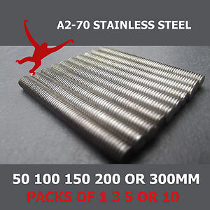 A2-Stainless-Steel-Threaded-Bar-Studding-M3-M4-M5-or-M6-With-or-Without-Nuts