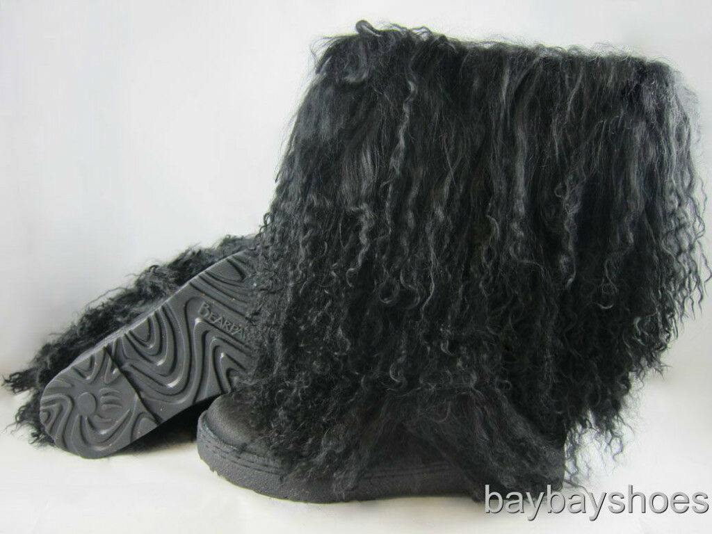 Bearpaw boetis Ii 2 11  bota Negro rizado cordero cordero cordero de piel de piel de oveja nos Para Mujer Tallas  distribución global