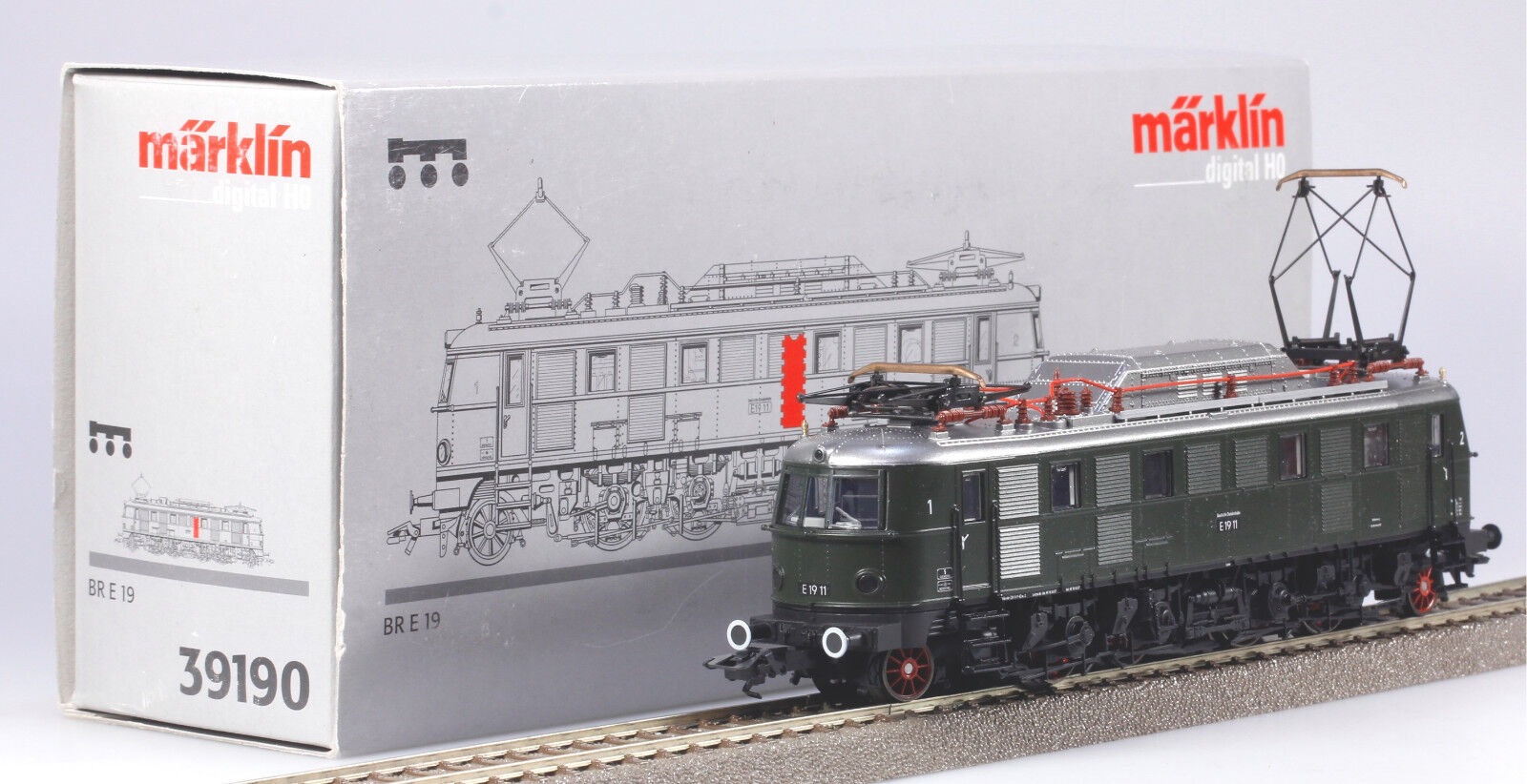 Märklin #39190 HO C-Sine Digital DB Class E19 Electric Locomotive New/Box 2002