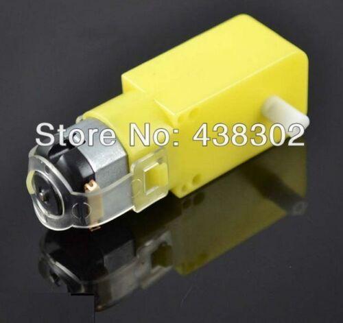 6V DC 160mA 100RPM Dual Shaft Car Toy Reduced Gear Motor Yellow c13