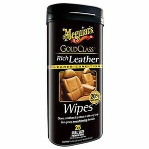 Meguiar-039-s-G10900-Gold-Class-Rich-Leather-Cleaner-amp-Conditioner-Wipes-25-wipes