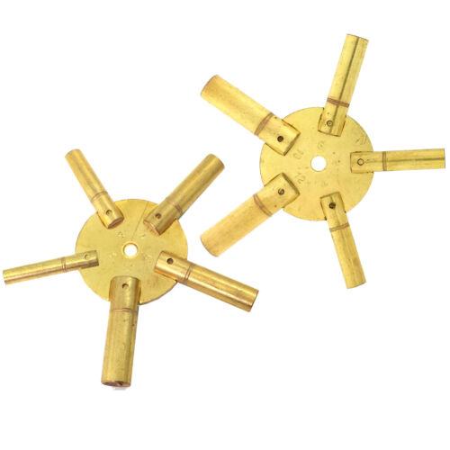 Clock Keys for Winding Grandfather Clocks Odd Even Sizes Set of 2