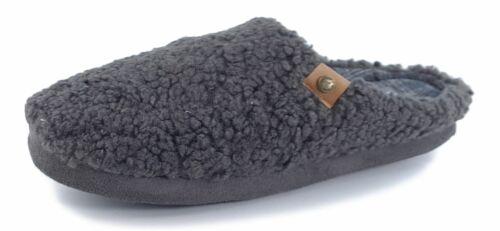 Dunlop Mens Mule Slipppers Memory Foam Warm Ross Charcoal Grey 7 8 9 10 11 12