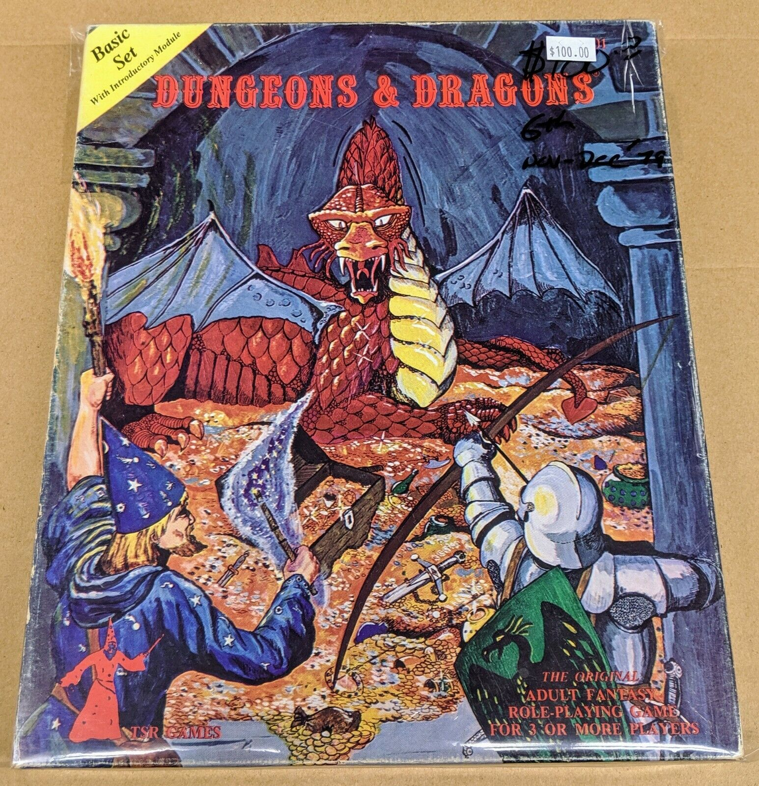 Dungeons and Dragons Starter Box 6th Print 1979   Free Shipping