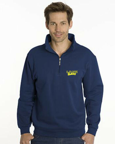 Gr Zip Sweat-Shirt Men XS-5XL bestickt mit Lanz Bulldog-Logo