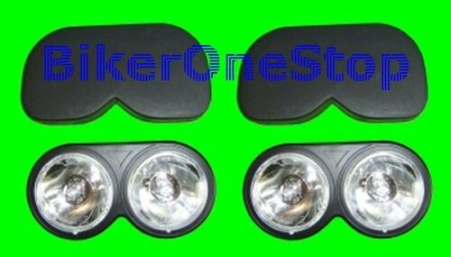NEW TWIN SPOTLIGHTS With Snap On Covers SPOT LIGHTS HLUTWINCOV Pair