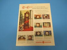 1948 This Christmas give the gift of a handsome General Electric Clock, PA009