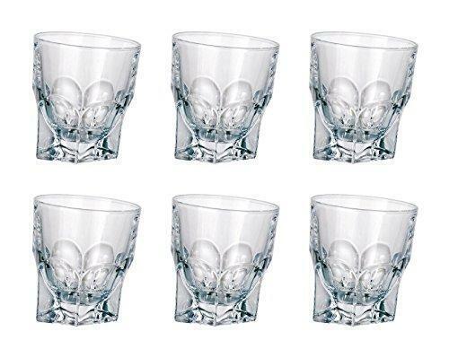 Crystalex Bohemia Acapulco, 11 Oz (environ 311.84 g) verre cristal Whiskey Verres à eau Lot de 6