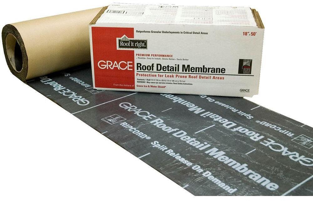 Roof Detail Membrane Asphalt Roll Waterproofing Slip Resistant 18 in x 75 sq. ft