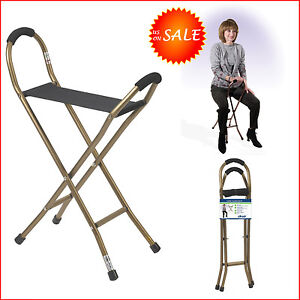 Lightweight folding walking seat cane elderly walker chair for Comfortable chairs for seniors