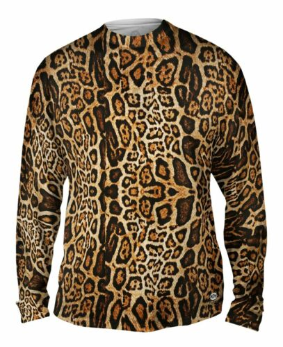 New Mens Long Sleeve Tee Shirt XS S M L XL 2XL 3 Leopard Skin Pattern Yizzam