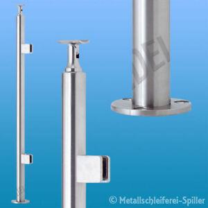Edelstar-Gelaenderpfosten-H-970mm-42-4-mm-2-Klemmh