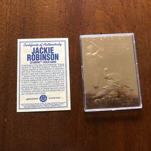 1997 23 KT Gold foil sculptured Jackie Robinson trading card Mint one owner