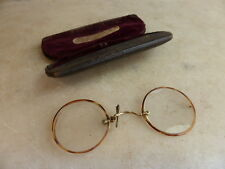 Antique French pince nez spectacles in case