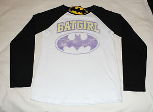 eed8272e DC Comics Batman Batgirl Logo Girls Printed Long Sleeve T Shirt ...