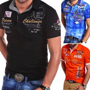BEHYPE-Herren-Poloshirt-Slim-Fit-Hemd-Kurzarm-T-Shirt-Schwarz-Weiss-Blau-Gruen-NEU