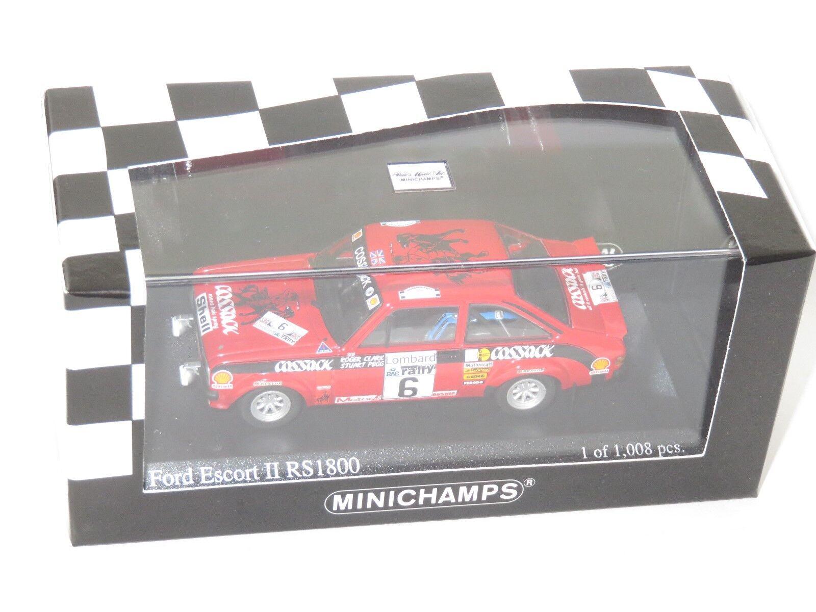 1 43 Ford Escort Mk2 RS1800  Cossack  Winners Lombard RAC Rally 1976 R.Clark