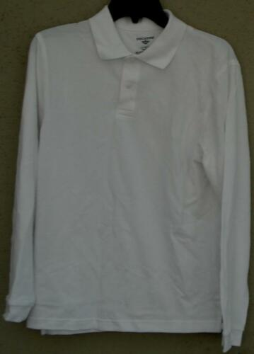White BRAND NEW Long Sleeve Dockers Boys Plain Polo Shirt Various Sizes