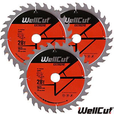 DSS611Z WellCut TCT Lame Scie 165 mm x 48 T X 20 mm alésage pour DSS610Z DCS391N