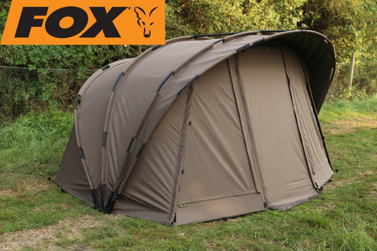 Fox Retreat+ Ripstop 1-man Angelzelt + Innenzelt, Zelt für Angler, Karpfenzelt