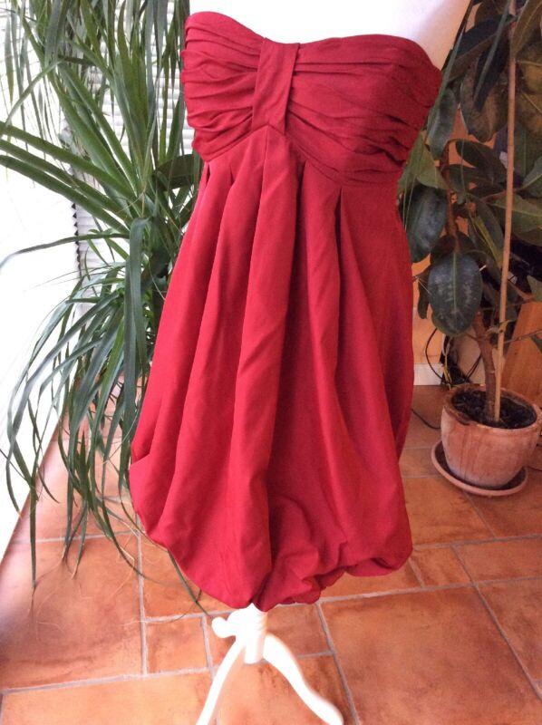 Fein Cocktailkleid Abendkleid Kurz Ballkleid Dress Ballonrock 50er Party Rot 38 Kaufen Sie Immer Gut