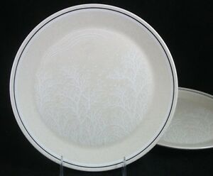 Lenox-SILHOUETTE-2-Dinner-Plates-GOOD-CONDITION