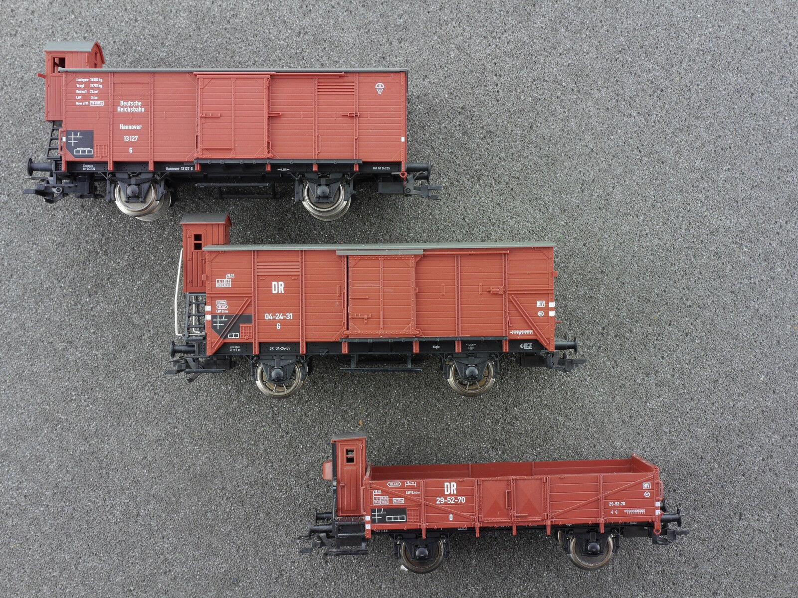 Fleischmann 3x carro merci bh5709 5366 5367 K DRG Reich ferroviario 1602-26-26