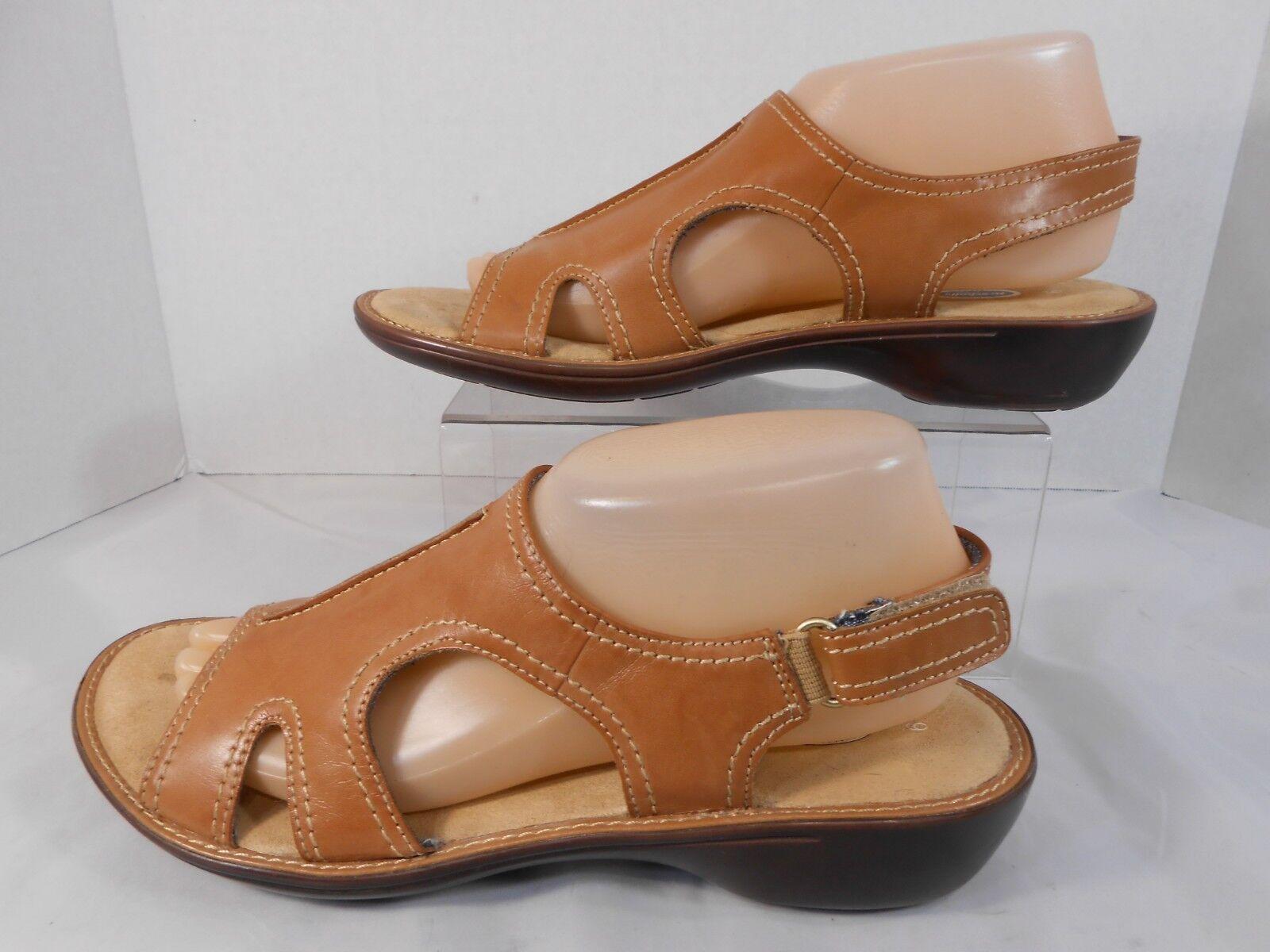 Dr Scholls Advanced Strappy Comfort Womens Size 9 Strappy Advanced Slingback Walking Sandals Tan b3c38b
