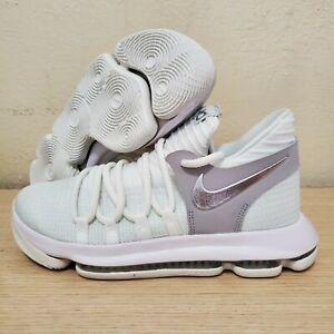 Nike-Zoom-KD-Big-Kids-Basketball-White-Chrome-Platinum-GS-Size-6-5Y-918365-100