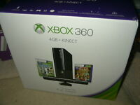 Sealed Xbox 360 4gb W/ Kinect + 2 Games Holiday Bundle Console Xbox360