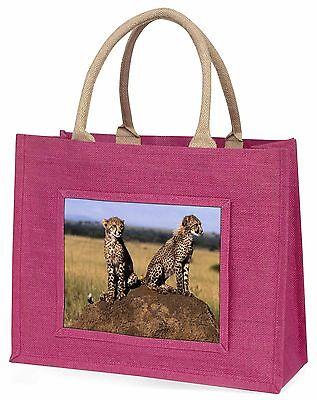 Geparden auf der Lauer Große Rosa Einkaufstasche Weihnachten Geschenkidee,