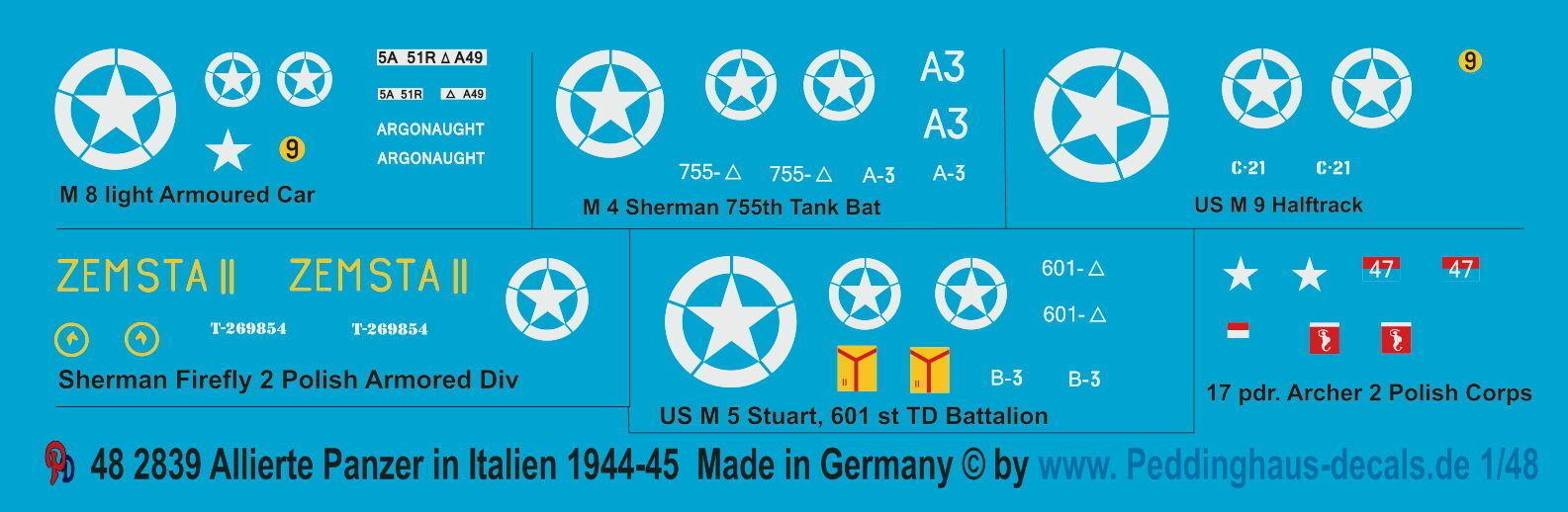 Peddinghaus 2839 1 48 ALLIERTE Panzer en Italia 1944-45