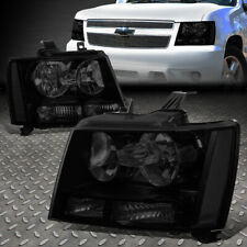 For 07 14 Chevy Tahoe Suburban Pair Tinted Housing Clear Corner Headlight Lamps Fits 2007 Chevrolet Suburban 1500