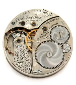 1903-ELGIN-0S-15J-LADIES-POCKET-MOVEMENT-amp-DIAL-ONLY-55-000-PRODUCED
