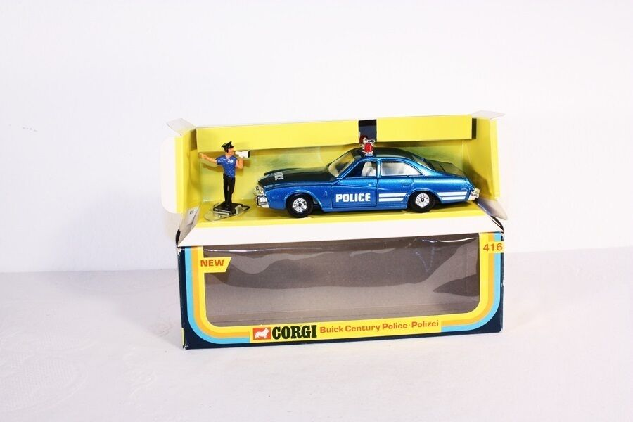 Corgi Spielzeugs 416, Buick Century Police, Mint in Box                             ab